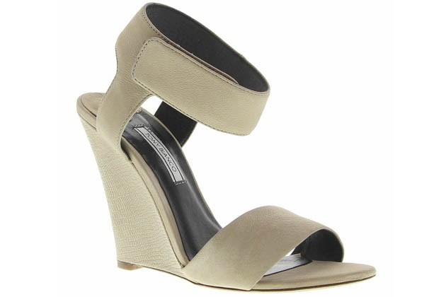 A grass-friendly wedge heel makes trackside fun a breeze. Wedges, $149.95, Tony Bianco, tonybianco.com.au