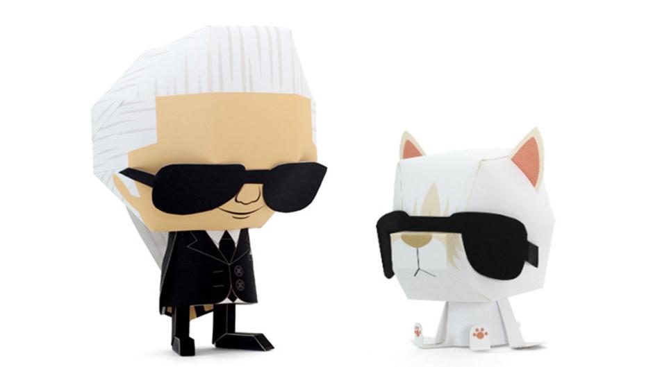 Karl Lagerfeld paper doll