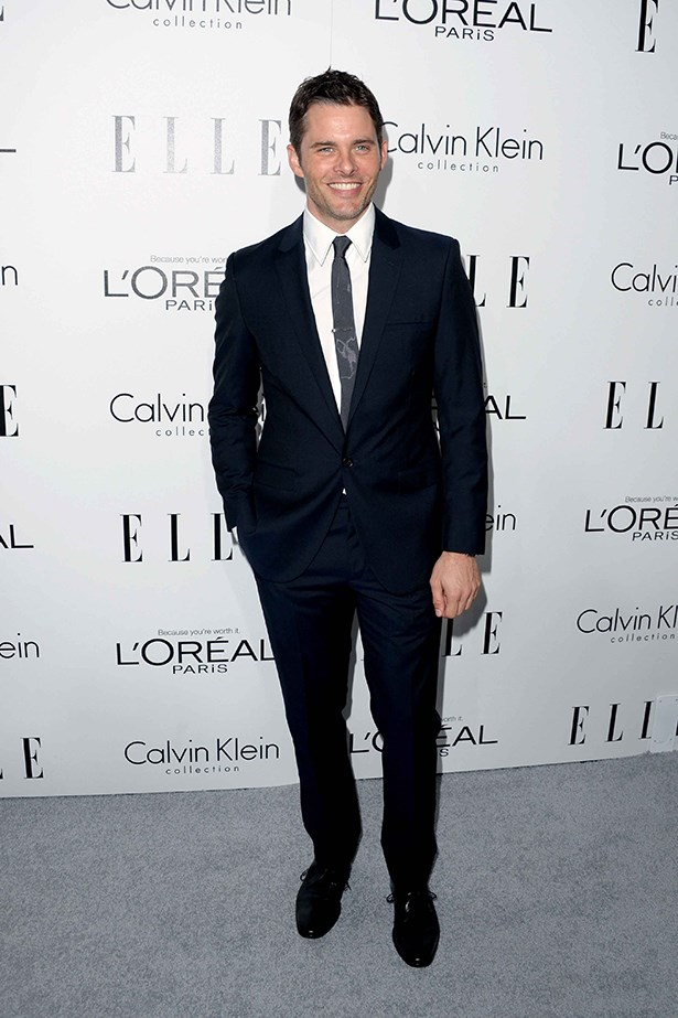 James Marsden wore a suit from Calvin Klein's men collection.