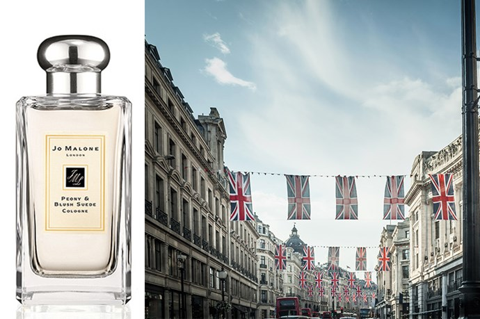 """<p><strong>London</strong>: Peony & Blush Suede Cologne, $170 (100ml), Jo Malone, <a href=""""http://jomalone.com.au"""">jomalone.com.au </a></p> <p>This blooming fragrance from British-born beauty house, Jo Malone, boasts bouquets of pink peonies, rose and jasmine and comes with a juicy bite of red apple. Take it on a summer vacation to London and enjoy the Brit note. </p>"""