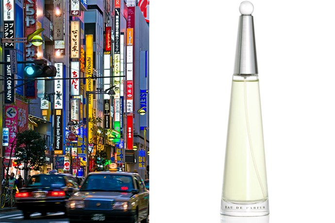 <p><strong>Tokyo</strong>: L'Eau d'Issey, $119 (50ml), Issey Miyake, (02) 9695 5678</p> <p>This fresh and floral fragrance by the Japanese label Issey Miyake is housed in a sleek-designed bottle signifying reaching for the future. Its fresh floral notes make it a timeless travelling scent.</p>