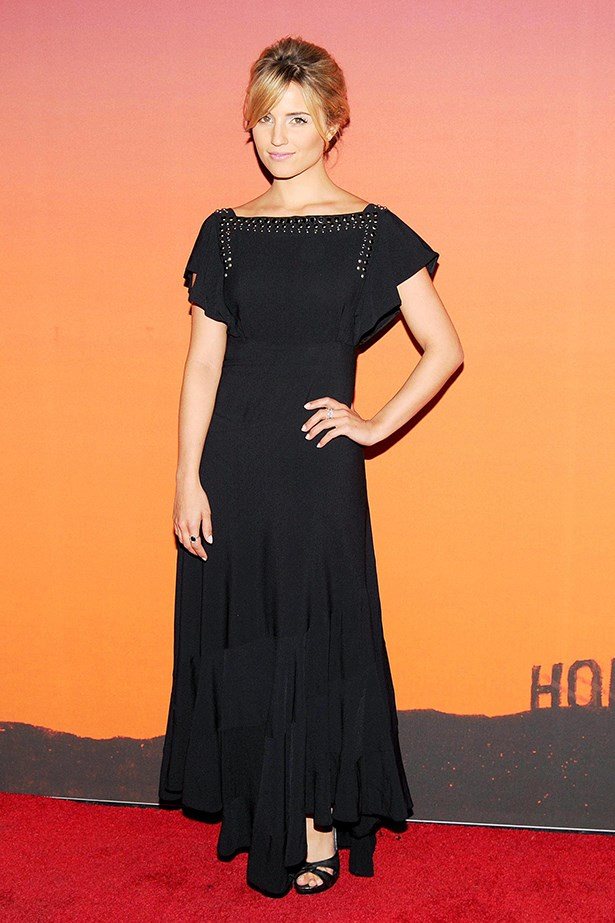 Dianna Agron opts for a loose boho dress.