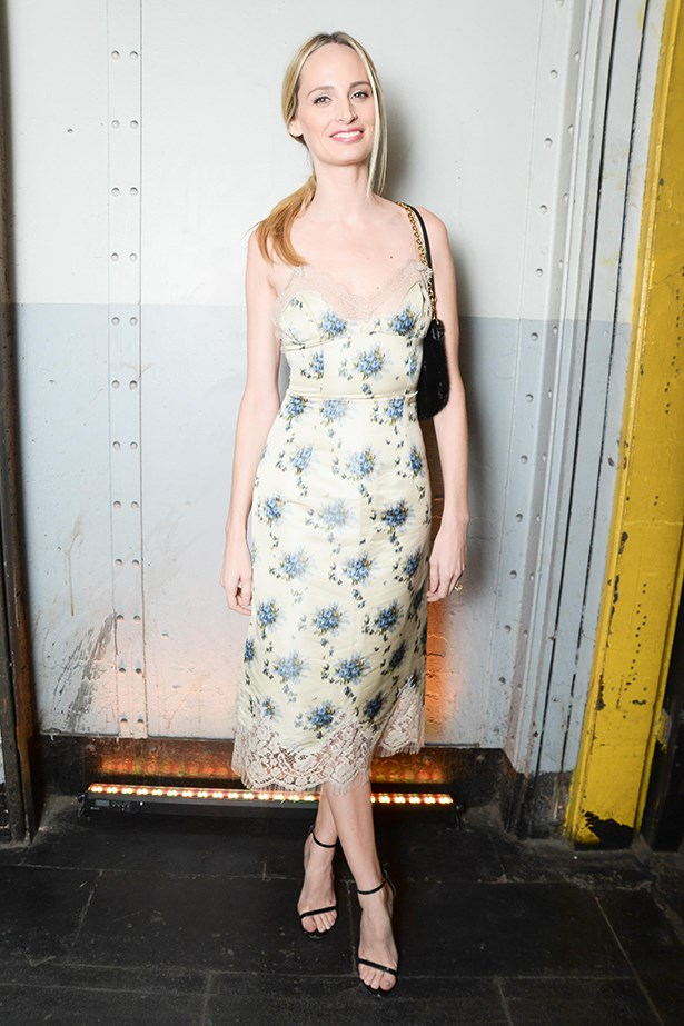 Lauren Santo Domingo looks like a dream in this floral dress.