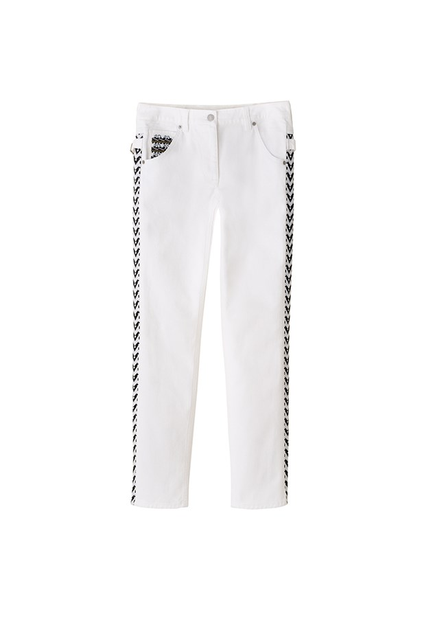 "<p>""I've been looking for a pair of crisp white jeans for a while and this pair fits the bill perfectly. I love the extra detail on the side. They're classic but still have that signature Isabel Marant look.""</p> <p><strong>Sophie Miura, syndication and bookings manager </strong></p>"