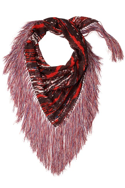 """If I can get in there quick enough, I'm planning on nabbing this fringed scarf. It's totally in tune with the SS14 runways and will set me up for summer.""  Genevra Leek, fashion news director"