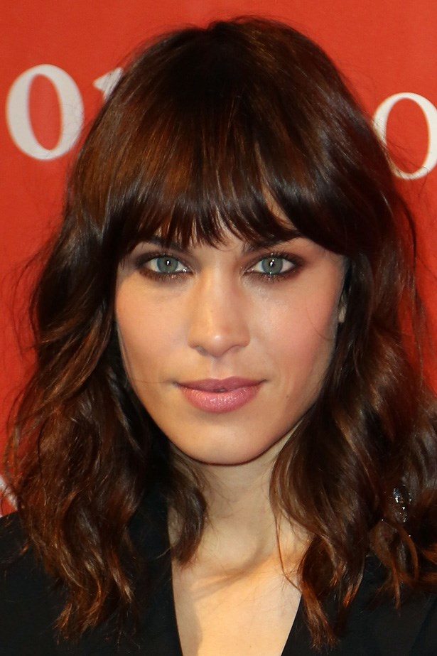 'It girl', Alexa Chung leads the pack, pairing her choppy bangs with a smokey eye.