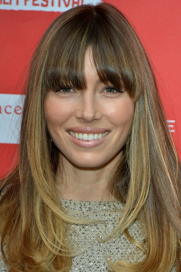 Mrs. Timberlake puts the focus on the fringe with minimal makeup at the 2013 Sundance Film Festival.