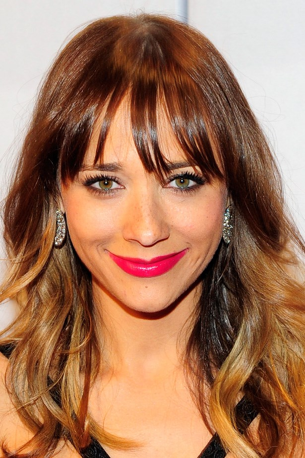 'Parks and Recreation' star Rashida Jones embraces a soft fringe with a bright lip at 17th Annual Power of Love Gala.