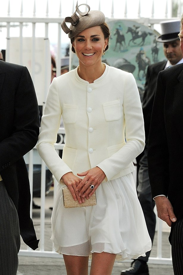 """<p><strong>Genevieve Smart</strong>: """"Avoid anything that makes you feel uncomfortable, from the dress to the shoes or the hat. If you feel great you will look great and have a much better day.""""</p> <p>Catherine, Duchess of Cambridge attends Investec Derby Day at the Investec Derby Festival at Epsom Downs Racecourse on June 4, 2011 in Epsom, England</p>"""
