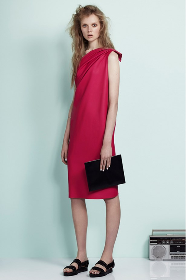 """<p><strong>Carl Kapp</strong>: """"Keep it simple. Choose a beautifully cut, fitted dress in a striking colour that suits your complexion. Keep the Christmas decorations for the Christmas tree.""""</p> <p>Carl Kapp Look book</p>"""