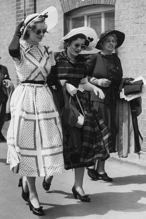 """<p><strong>Bec Cooper</strong>: """"Avoid showing too much skin. Keep it classy and chic, ladies."""" </p> <p>1951 - Miss Martin Smith (left) at the royal Ascot horse race meeting in Berkshire.</p>"""