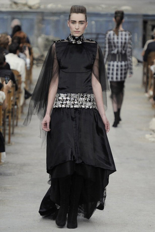 2013: Chanel AW13-14 McKnight used a straightener and lots (and lots) of hairspray to get hair this high (and flat).