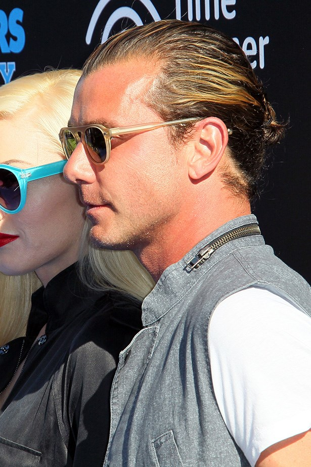 Husband to music goddess, Gwen Stefani, Gavin Rossdale's man bun is no surprise. Rock on, Rossdale. Rock on.