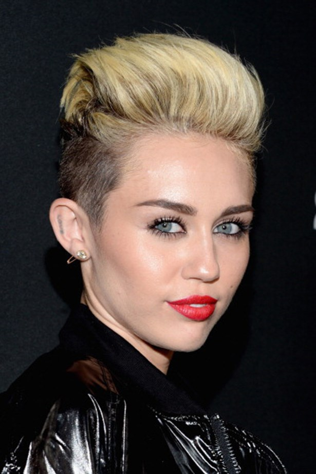 "2012: Miley Cyrus The former Disney It-girl called  her hair-reno ""life-changing"". We totally agree."