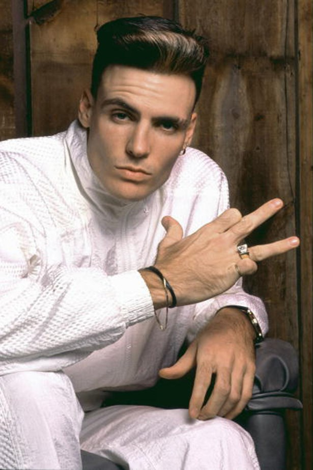 90s: Vanilla Ice. Mr Ice's gravity-defying mane must have caused follicular damage: he now wears a flat bill hat.