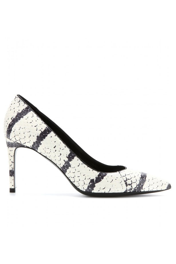 A fresh take on a classic shape Shoes, approx $924, Saint Laurent, mytheresa.com