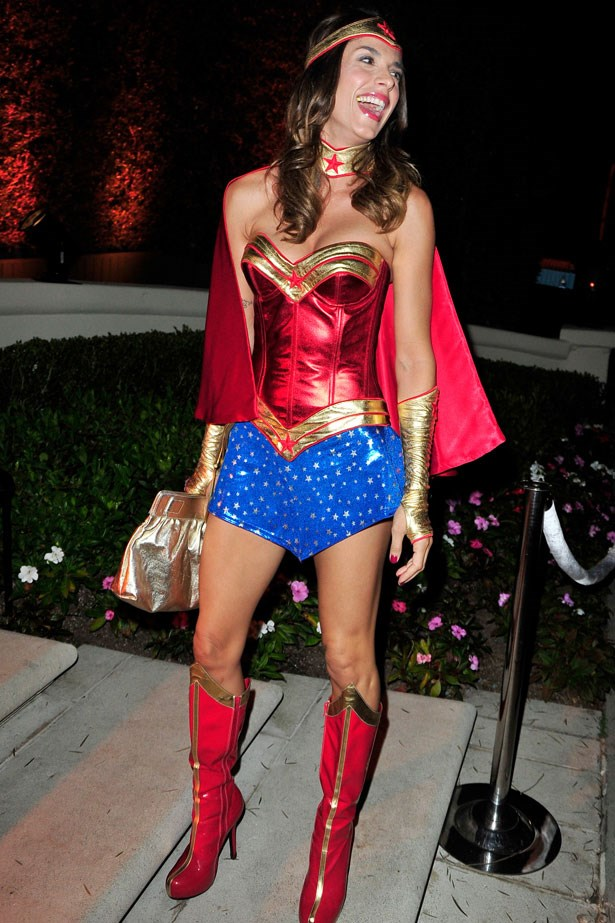 Italian actress Elisabetta Canalis as Wonder Woman