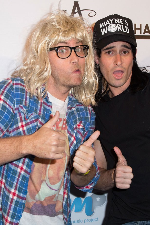 Lance Bass and friend as Wayne's World
