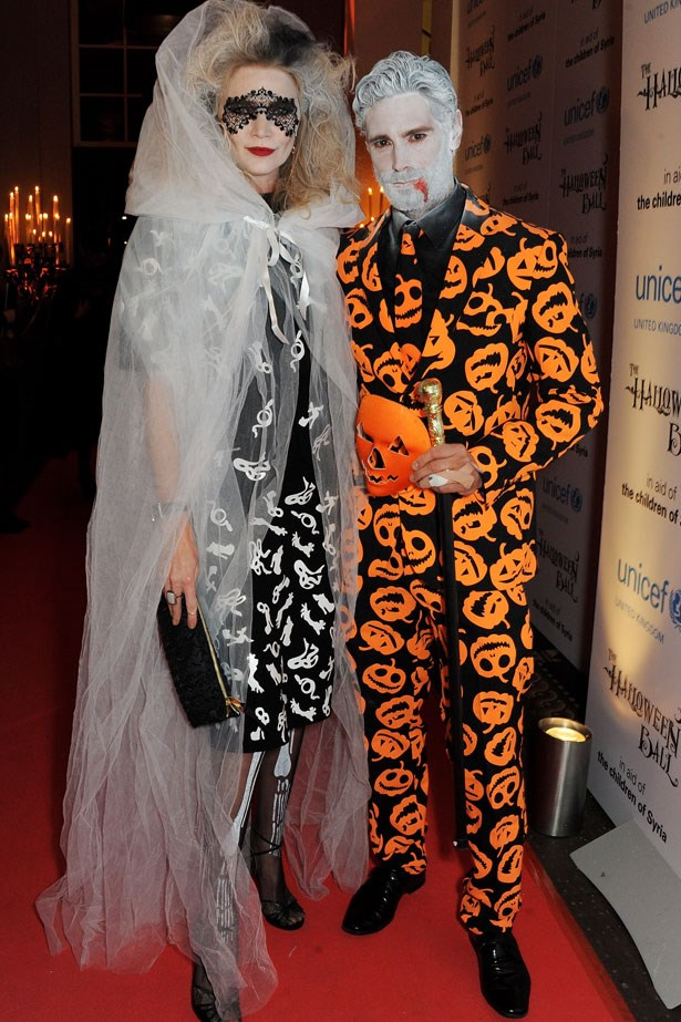 Jodie Kidd and friend at the UNICEF UK Halloween Ball