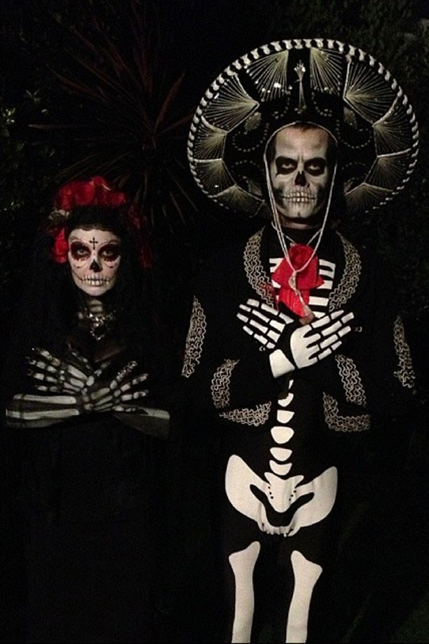 Another great Día de Muertos themed costume from Fergie and Josh Duhamel