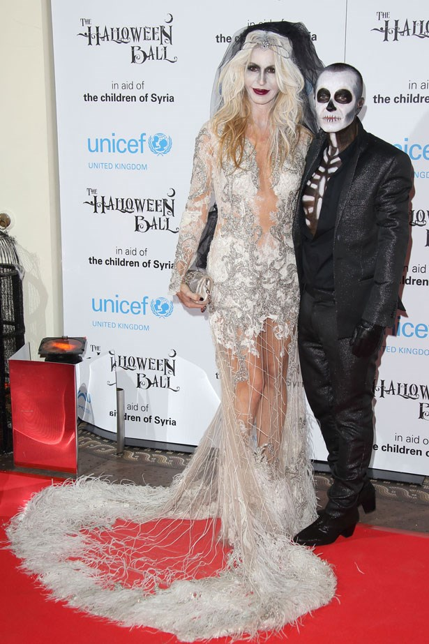 Designers Julian Macdonald and Melissa Odabash at the UNICEF Halloween Ball in London