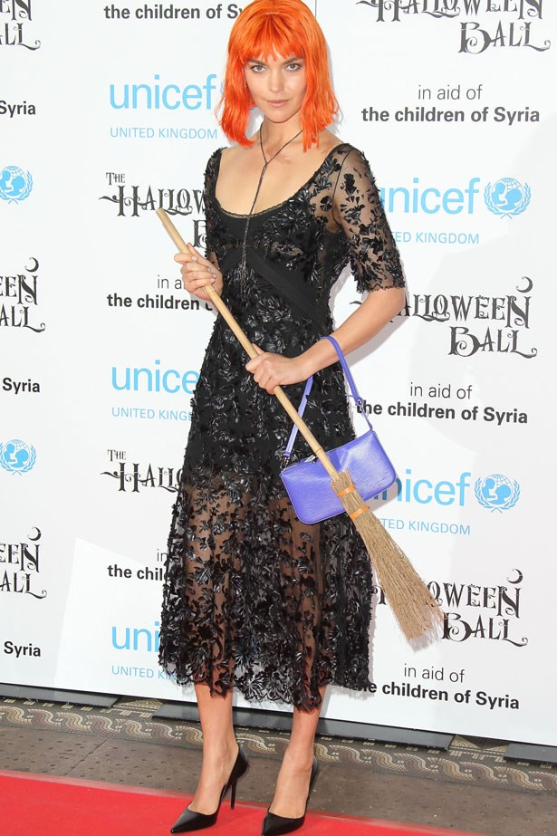Arizona Muse goes all witchy-poo at the UNICEF Halloween Ball