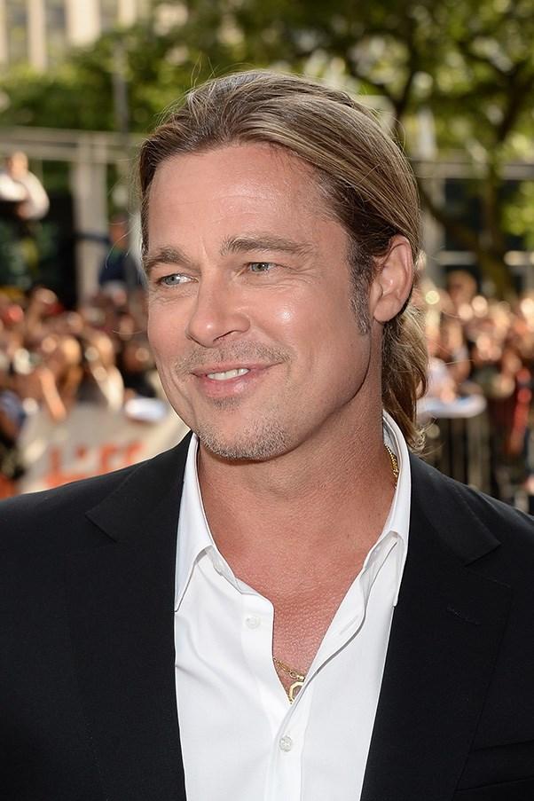 Brad Pitt won't use deodorant