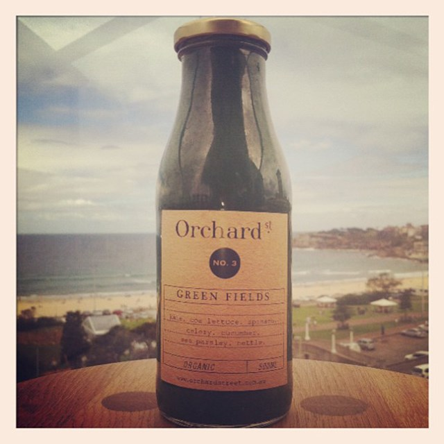 """So delicious @orchardstlove"" FYI: Miranda loves Australian Lucky You and Orchard Street juices"