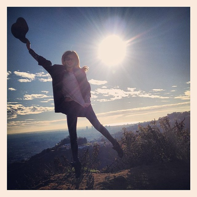 """Shine your light in 2013"" FYI: Miranda loves hiking in the Hollywood Hills with her family"