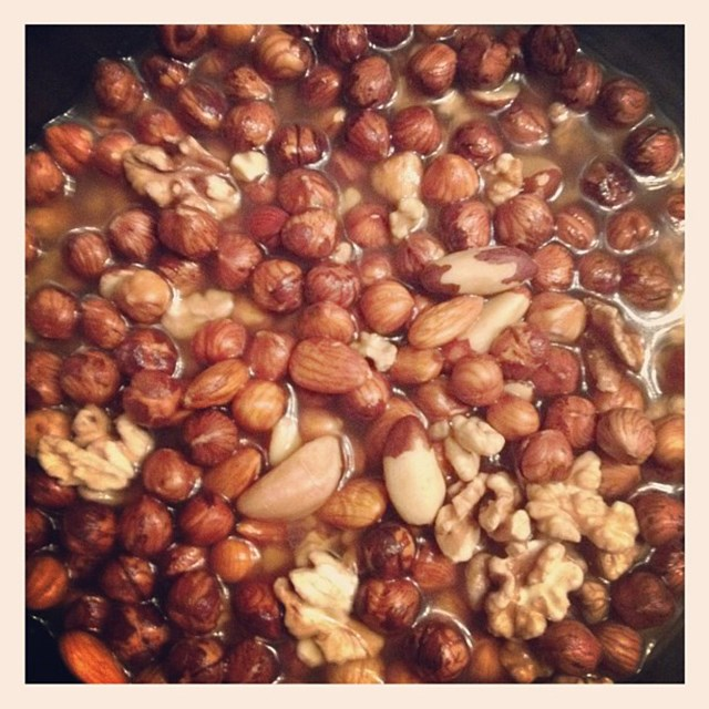 "<p>""Hmmmm soaked nuts...</p> <p><strong>FYI</strong>: Kerr soaks nuts before eating them, soaking nuts prior to eating them releases more of their vitamins</p>"