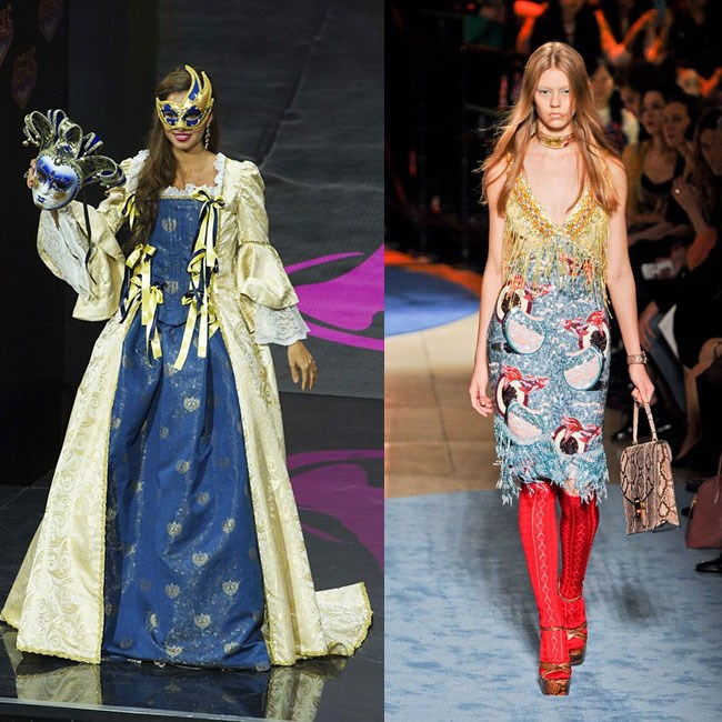 MISS ITALY: I like Venice as much as the next hopeless romantic, but masks and ball gowns don't really feel relevant to today, if you know what I mean? The ultimate Miss Italy is a woman who wears nothing but Miu Miu – she's still glitz and and glam, but she knows when to send herself up.