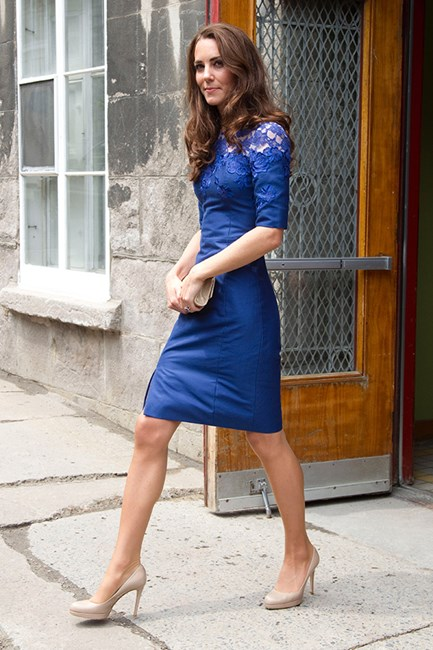 Kate Middleton in blue Erdem dress