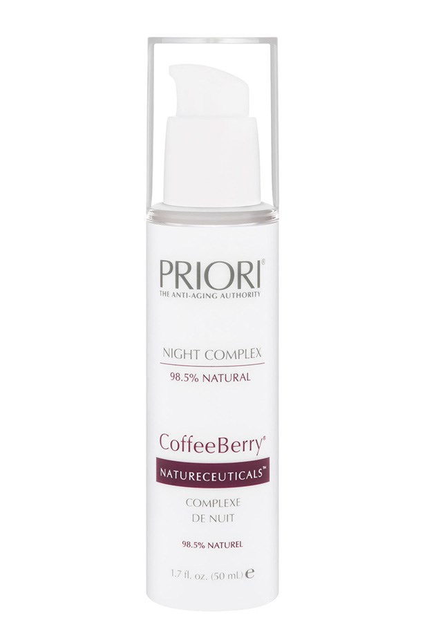 """CoffeeBerry Night Complex, $160, Priori, <a href=""""http://priori.com.au"""">priori.com.au</a> Coffee and sleep? Sure! Priori's rich moisturiser is packed with antioxidants from the coffee bean, to help fight free radicals while you sleep."""