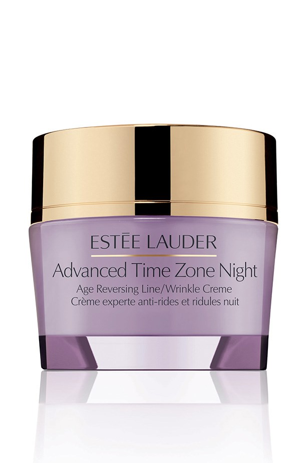 """Advanced Time Zone Night Age Reversing Line/Wrinkle Crème, $110, Estée Lauder, <a href=""""http://esteelauder.com.au """">esteelauder.com.au </a> A perfect night cream for those with sensitive skin, Estée Lauder's double action cream smooths and firms the skin while you snooze."""