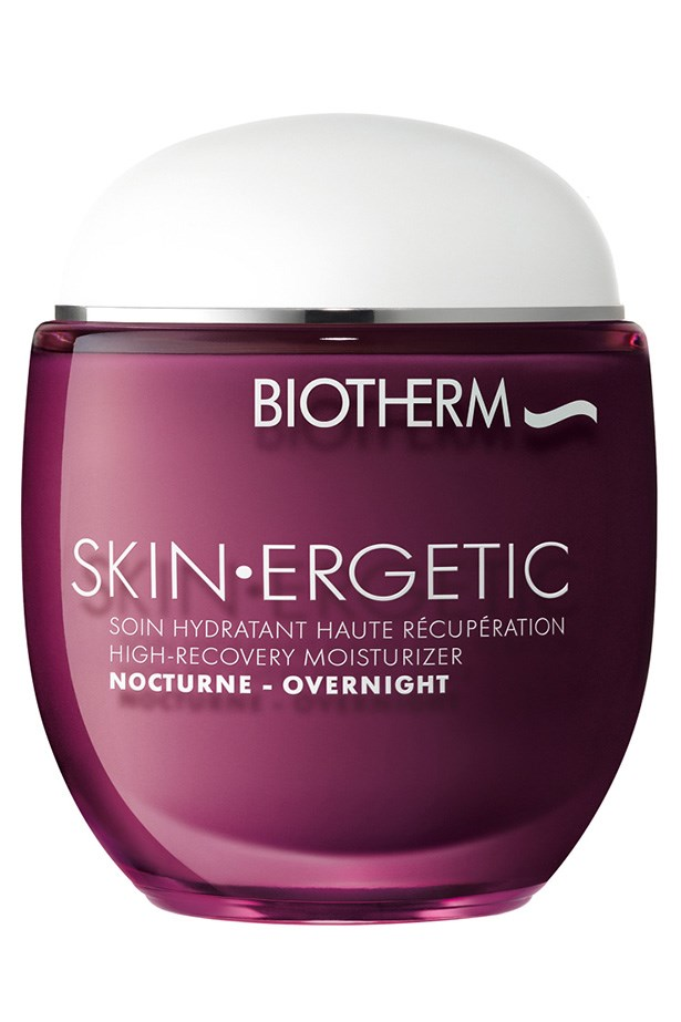"""Skin.Ergetic Night Cream, $65, Biotherm, <a href=""""http://biotherm.com.au"""">biotherm.com.au</a> Biotherm's petro-chemical, paraben and silicone-free night cream is a holiday for the skin. Ultra-hydrating, it works to detox the skin, with help from tea, buckwheat and cranberry extracts."""