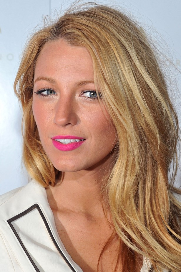 Pop-bright pink and sandy blondes go together like jam and cream. Bombshell Blake Lively is summer-time perfection in New York.