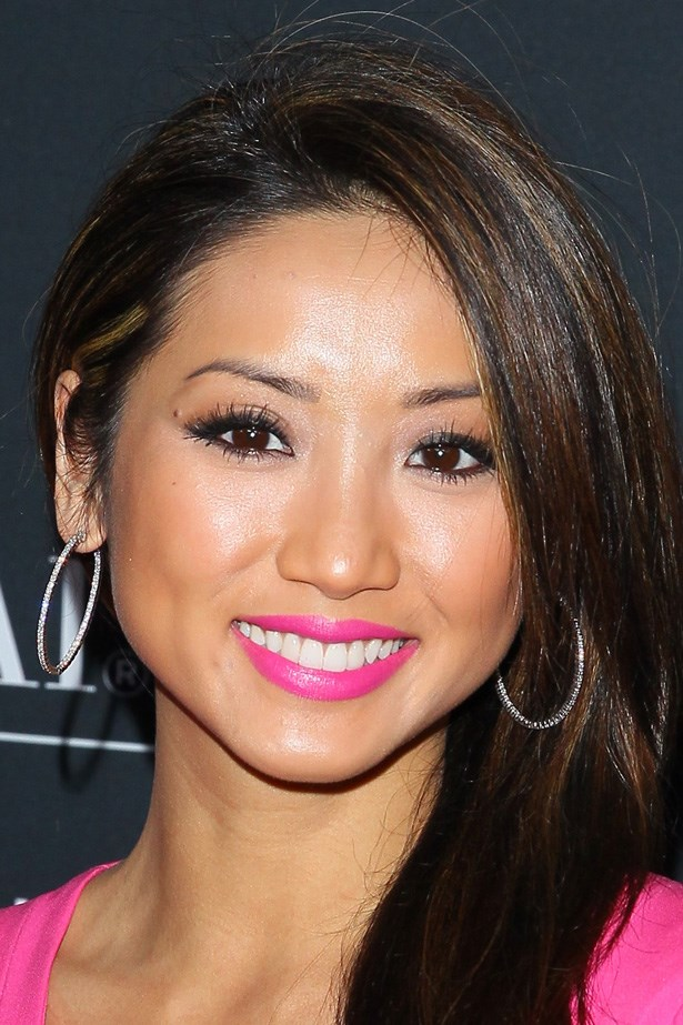 Brunette beauty Brenda Song proves that too much pink is never enough.