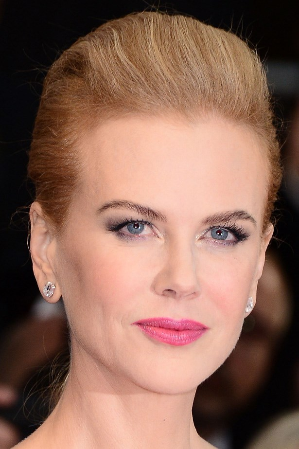 All focus is on Nicole Kidman's pink pout, thanks to her elegant swept back 'do at the Cannes Film Festival.