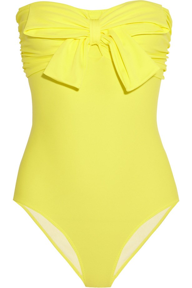 Swimsuit, approx. $220, Miu Miu, net-a-porter.com