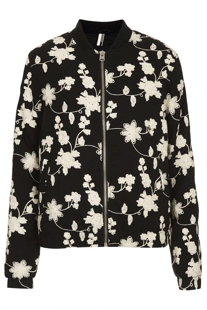 Jacket, $110,59, Topshop, topshop.com