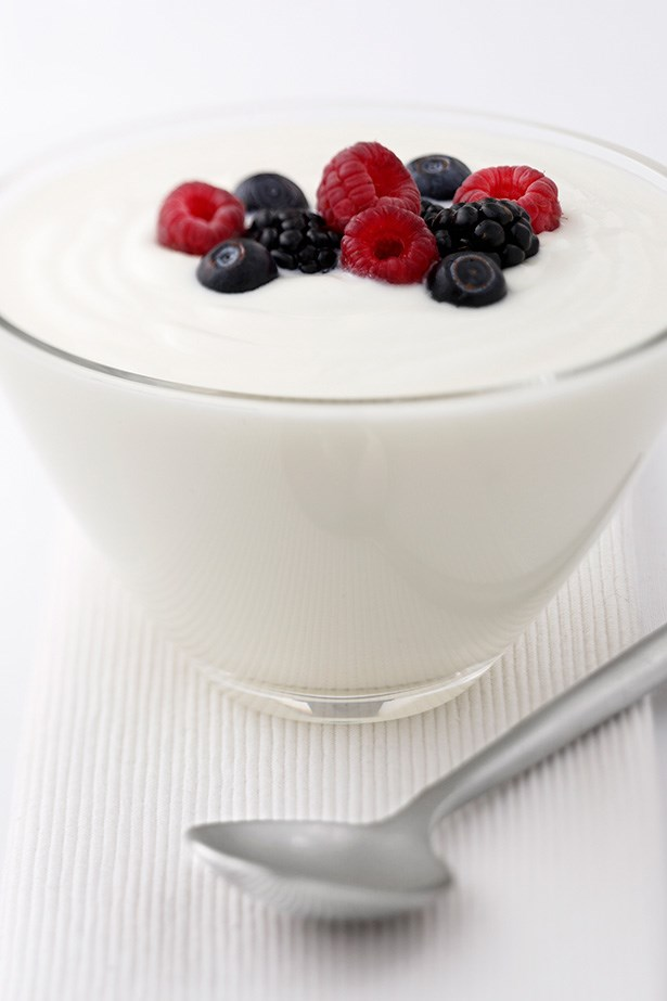 Yoghurt: No Yoplait here, only unsweetened, natural yoghurt for gut-health and skin Eat it, and apply it directly to the skin! Natural, unsweetened yoghurt contains good bacteria and B-vitamins – including Riboflavin which kick starts skin renewal. The calcium in yoghurt also prevents and heals dry scaly skin. Yoghurt's acidic nature means it can shrink pores, or clear up a pimple when applied directly to the skin.