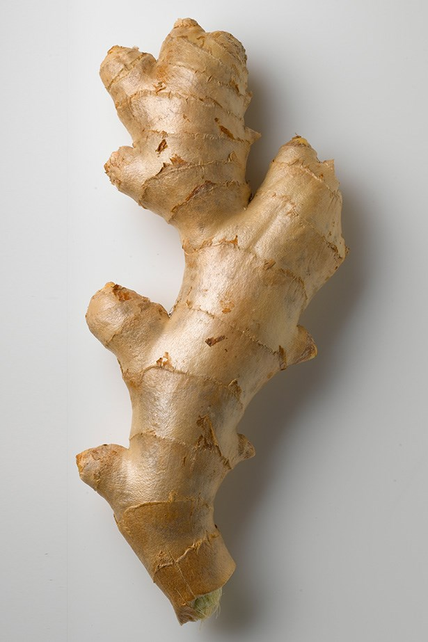 Ginger: Most people drink ginger tea to soothe a sore throat. That's because it contains anti-inflammatory compounds called gingerols. It can also help skin appear firmer, and brighter as it's also packed with anti-oxidants.