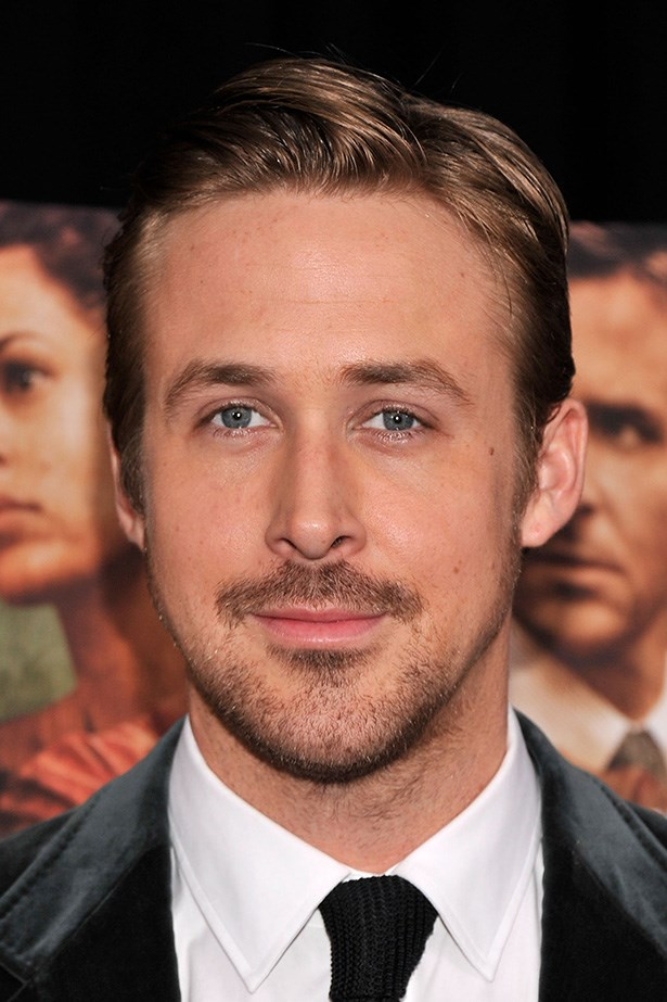 Ryan Gosling's moustache revives Noah Calhoun nostalgia as he attends the premiere for 'The Place Beyond The Pines' in New York City.