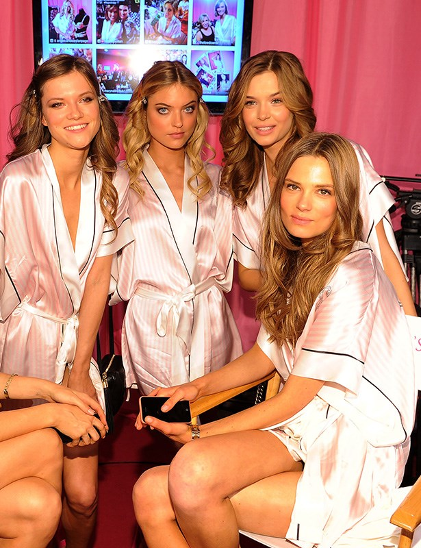 VS models from left to right: Kasia Struss, Martha Hunt, Josephine Skriver and Caroline Brasch