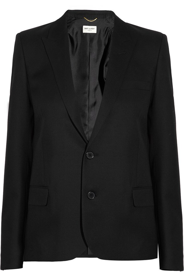 "Wool blazer, $2,817, Saint Laurent, <a href=""http://www.net-a-porter.com "">net-a-porter.com </a>"