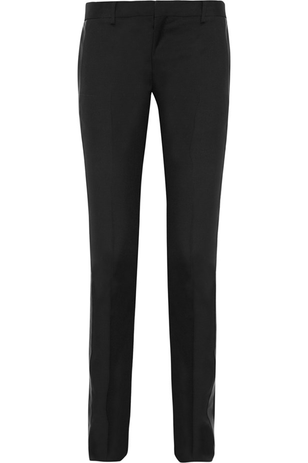 "Tuxedo pants, $841, Saint Laurent, <a href=""http://www.net-a-porter.com "">net-a-porter.com </a>"