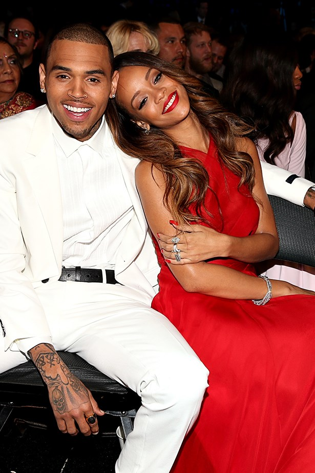 <p><strong>Rihanna and Chris Brown</strong></p> <p>Although Rihanna looked radiant in a sheer Azzedine Alaïa custom creation at the Grammy's in February this year, one accessory she sported was not admired by all – her ex Chris Brown. Call her crazy but some speculate the tumultuous twosome rekindled for a short while this year and were spotted hanging out all over LA.</p>