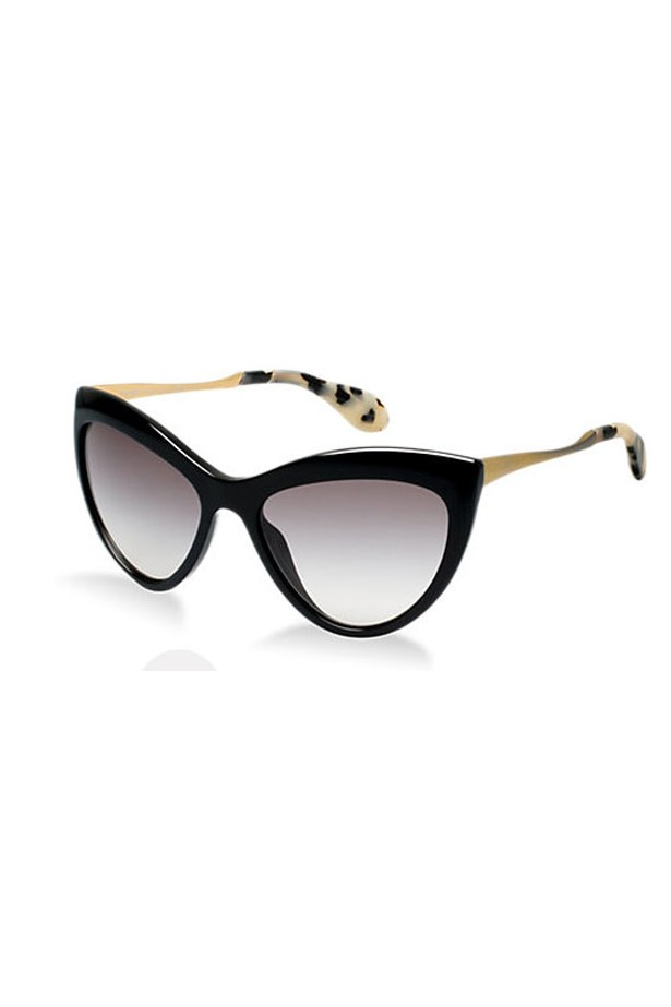 "<p>These Miu Miu sunnies get double feline points – not only are they cat-eye shaped, the arms are tortoiseshell. </p> <p>Shop here: <a href=""http://www.sunglasshut.com/au/8053672076776"">sunglasshut.com</a></p>"