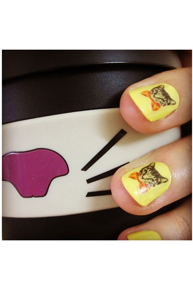 """<p>You can even pretty up your claws with kitty nail art. London's cat café Lady Dinah's makes three different styles.</p> <p>Shop here: <a href=""""http://ladydinahs.com/product/cat-nail-stickers/"""">ladydinahs.com</a></p>"""