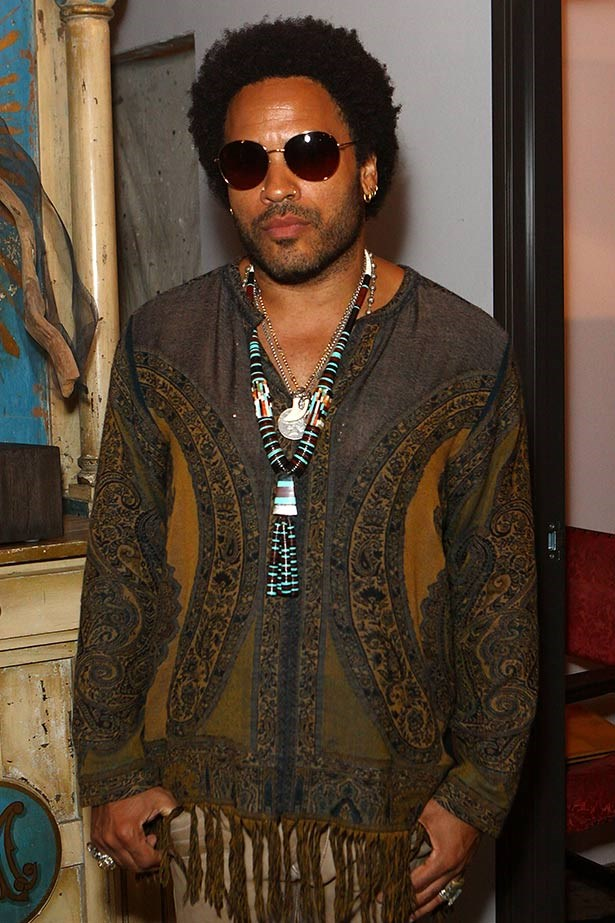 <strong>Lenny Kravitz</strong><br> He may be a rock legend, but the American slashie is pretty damn believable in his role as Katniss' stylist extraordinaire, Cinna, who's the mastermind behind her stunning Mockingjay dress in the movie.